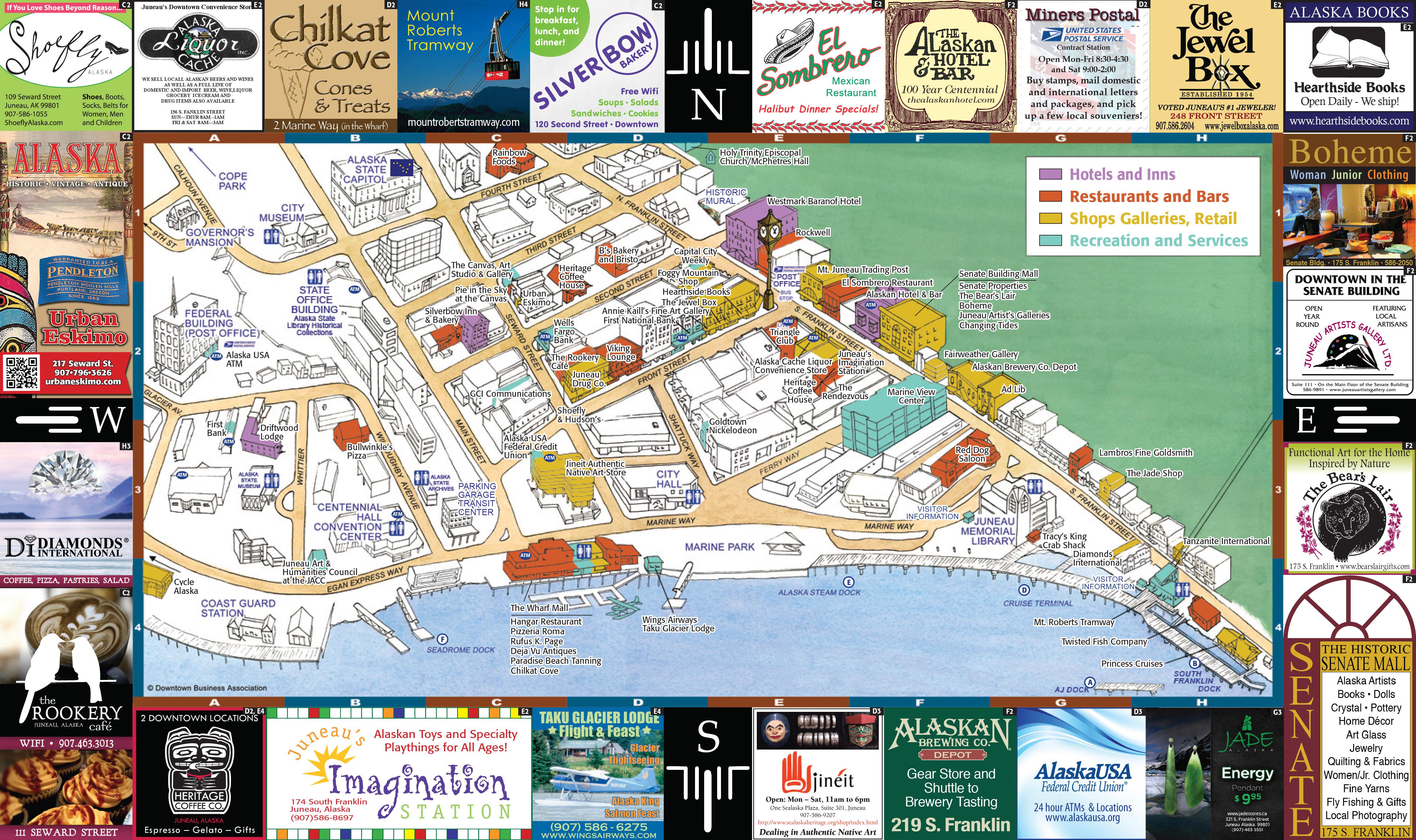 dba map web . downtown business association  juneau ak  promoting downtown
